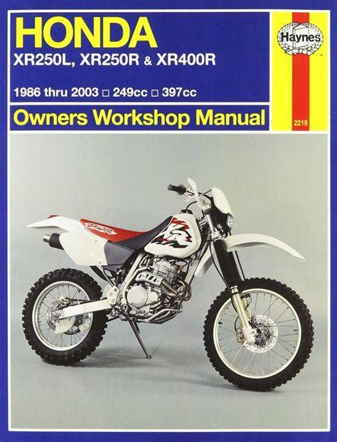Haynes Honda Xr250l Xr250r Xr 400r 1986 2003 Repair Manual H2219