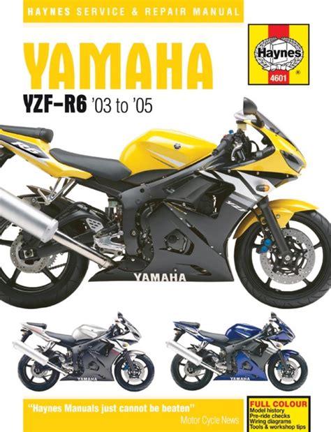 Haynes Manual 4601 Yam Yzf R6 03 05