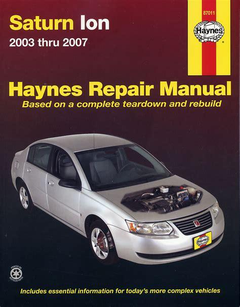 Haynes Manual Saturn Ion