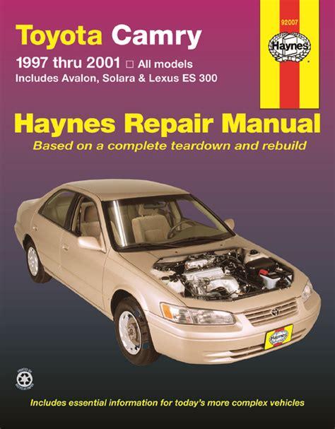 Haynes Manual Toyota Avalon 2018