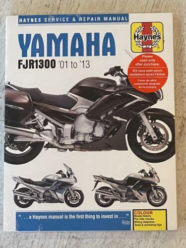 Haynes Manuel 5607 Yamaha Fjr1300 01 13