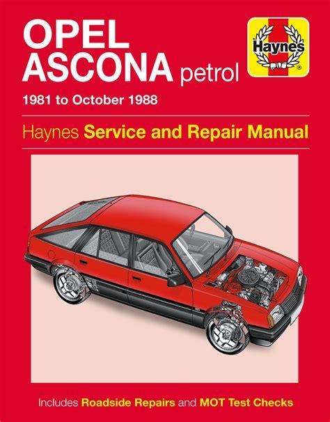Haynes Opel Ascona Service And Repair Manual