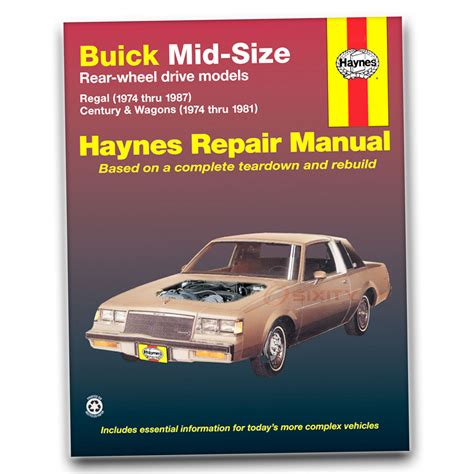 Haynes Repair Manual 2014 Buick Regal