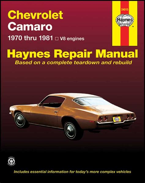 Haynes Repair Manual 2018 Camar