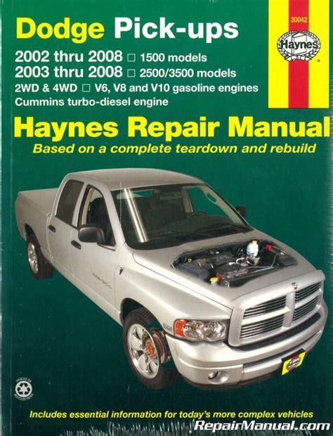 Haynes Repair Manual 91 Dodge Ram