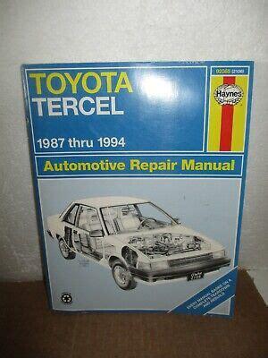 Haynes Repair Manual 92 Tercel