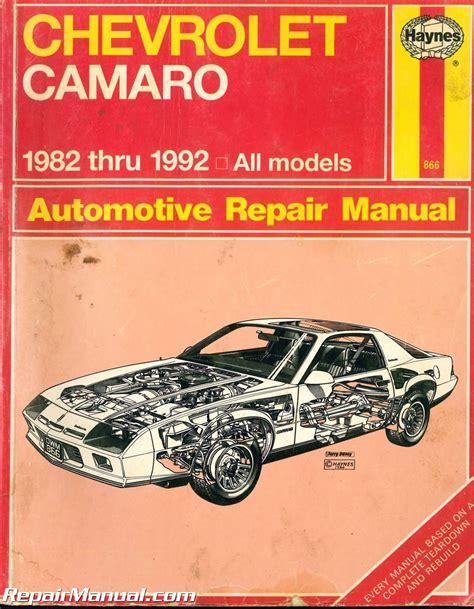 Haynes Repair Manual 95 Chevy Camaro