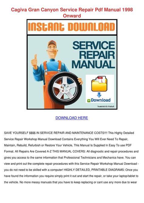 Haynes Repair Manual Cagiva Gran Canyon