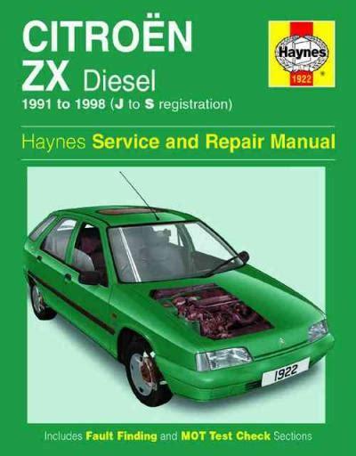 Haynes Repair Manual Citroen Zx
