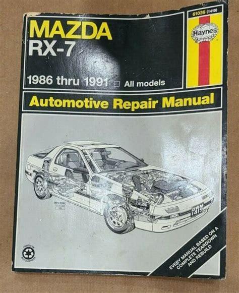 Haynes Repair Manual For Mazda Rx7