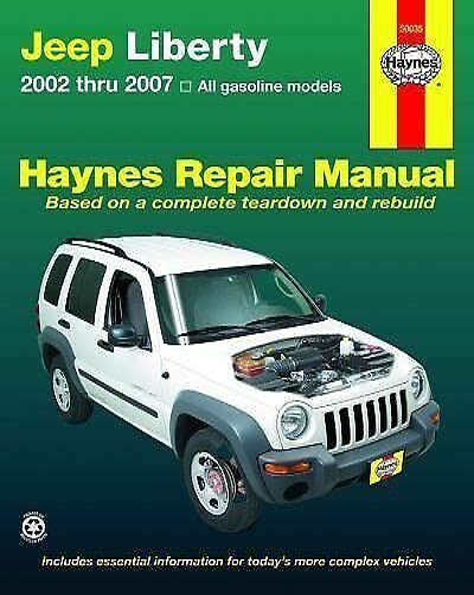 Haynes Repair Manual Jeep Liberty
