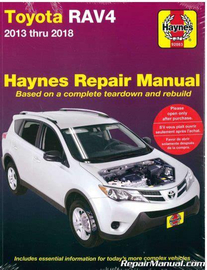 Haynes Repair Manual Rav4 2018