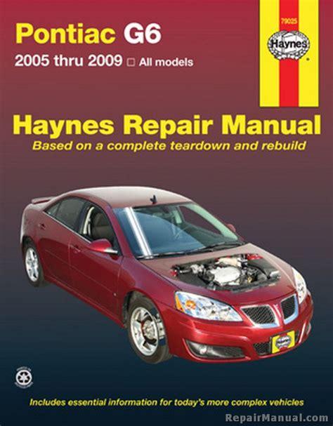 Haynes Repair Manuals Pontiac G6