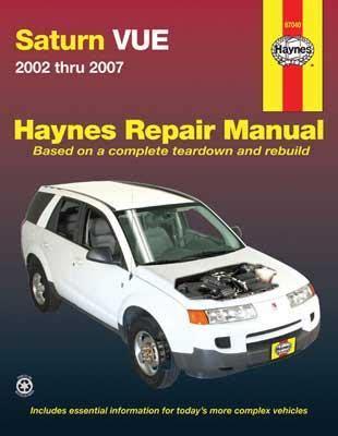 Haynes Saturn Vue 2002 Thru 2007 Repair Manual
