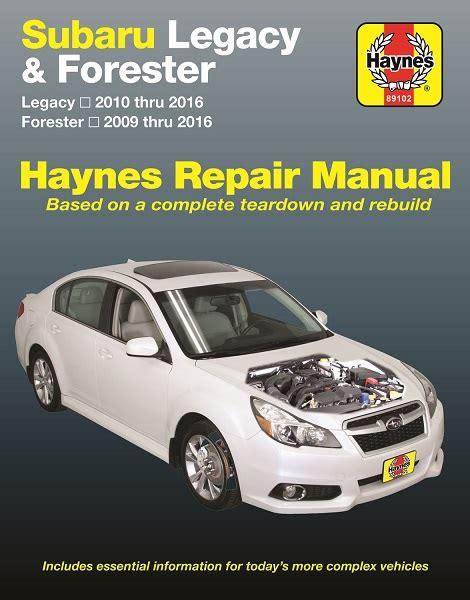 Haynes Subaru Legacy And Forester Repair Manual