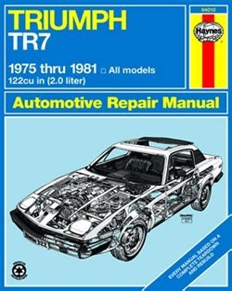 Haynes Triumph Tr7 Repair Manual 1975 Thru 1981