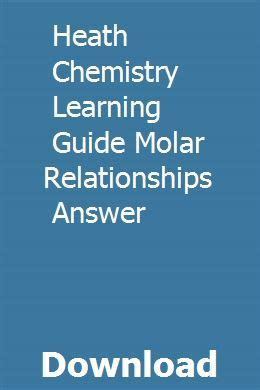 Heath Chemistry Learning Guide Answers