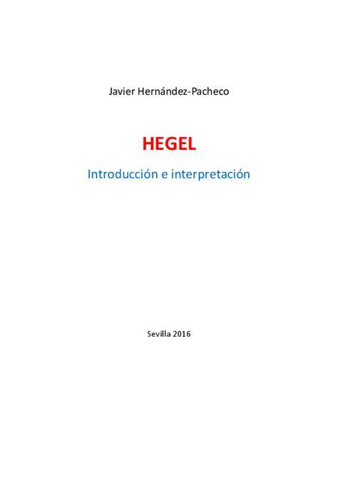 Hegel Introduccion E Interpretacion