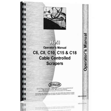 Heil C 15 Scraper Operators Manual