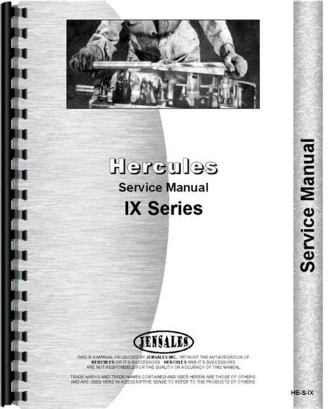 Hercules Engines Ixk 3 Engine Manual