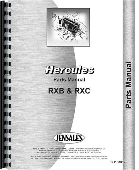 Hercules Engines Rx Engine Parts Manual