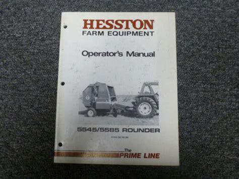 Hesston 5545 Owners Manual