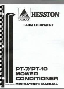 Hesston Pt 7 Mower Conditioner Manual