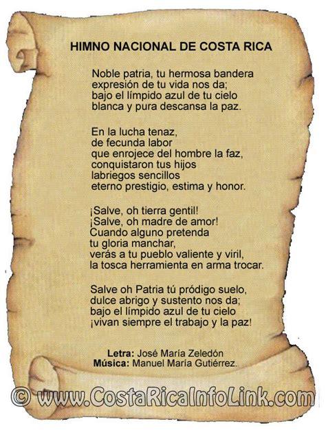 Himnos Y Canciones De Costa Rica