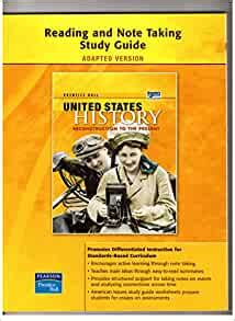 History Note Taking Study Guide Pearson