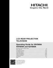 Hitachi 55vs69a Service Manual