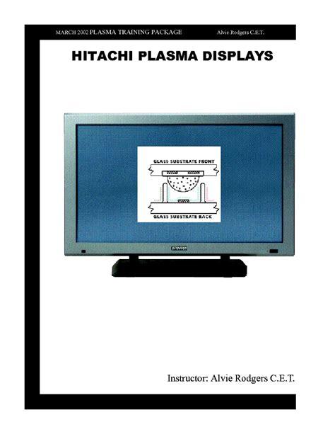 Hitachi Cmp5000wx Plasma Display Repair Manual