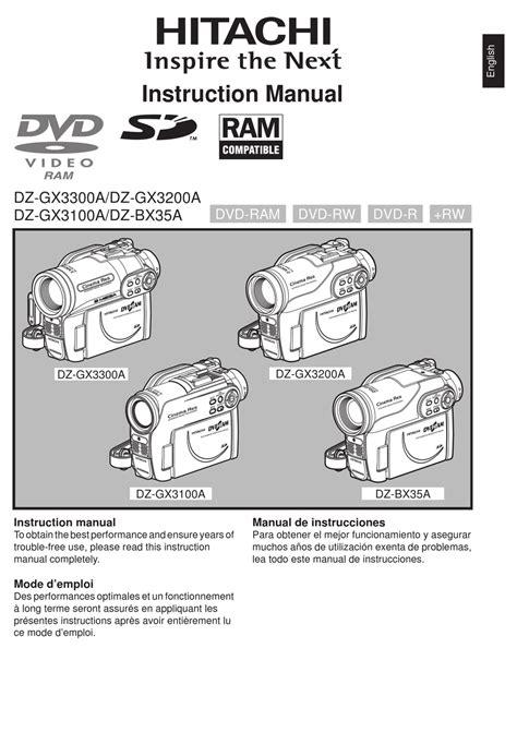 Hitachi Dz Bx35a Service Manual