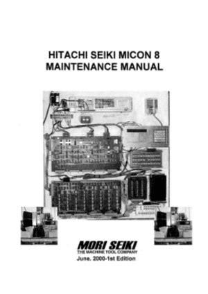Hitachi Seiki Maintenance Manuals