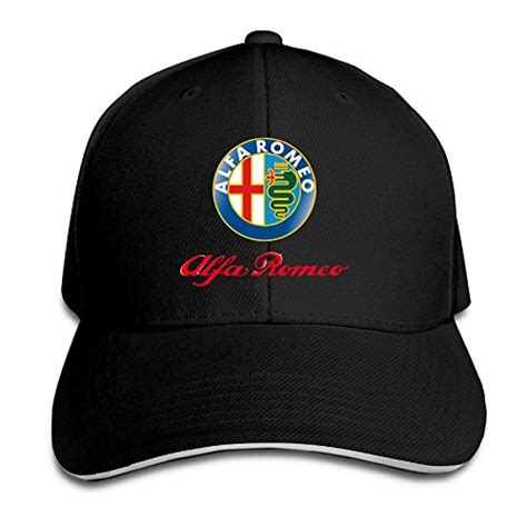Hittings Alfa Romeo Sandwich Baseball Caps For Unisex Adjustable Natural