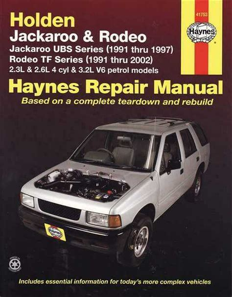 Holden Jackaroo Workshop Manual