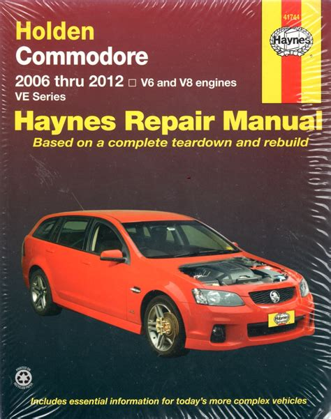 Holden Ve Sportwagon Workshop Manual