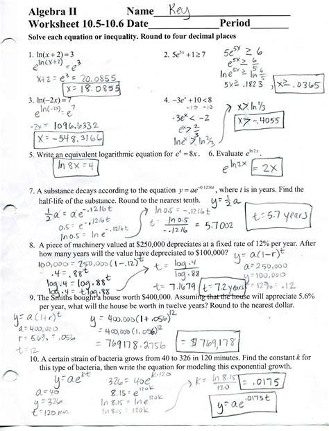 Holt Algebra 2 Answer Key Worksheets