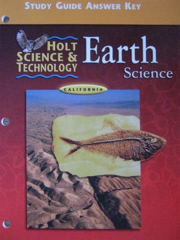 Holt California Earth Science Study Guide Answers