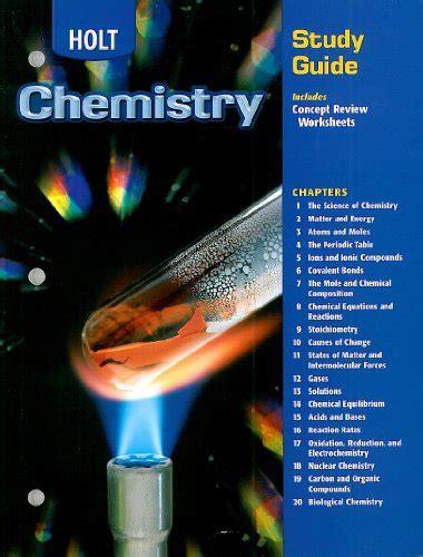 Holt Rinehart And Winston Study Guide Chemistry