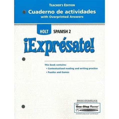 Holt Spanish 2 Expresate Answer Key Book