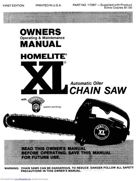 Homelite Chain Saw Owner Manual