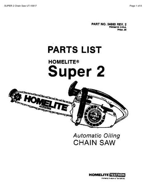 Homelite Chainsaws 10617a Manual