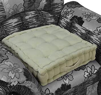 Homescapes Coussin rehausseur QUALITE supérieure (50 x 50 x 10cm) CONFORT pour chaise ou fauteuil. Pur coton et velour ULTRA DOUX. Couleur BLEU