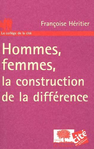 Hommes Femmes La Construction De La Difference