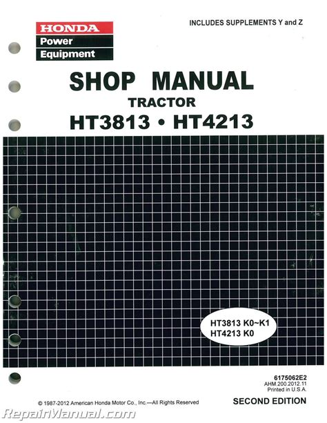 Honda 3813 Owners Manual