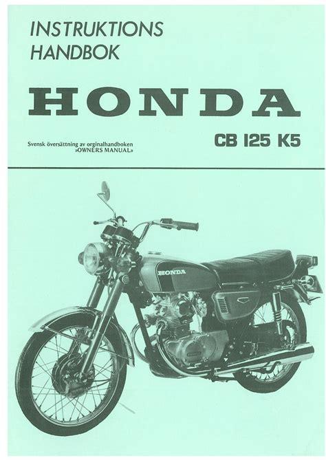 Honda Cb125 Manual