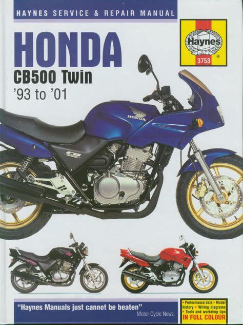 Honda Cb500 S 1994 1995 1996 2001 Workshop Manual