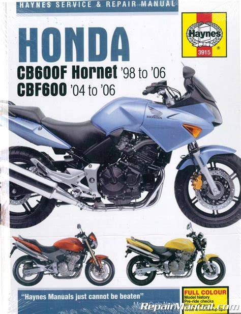 Honda Cb600f 2016 Hornet Repair Manual