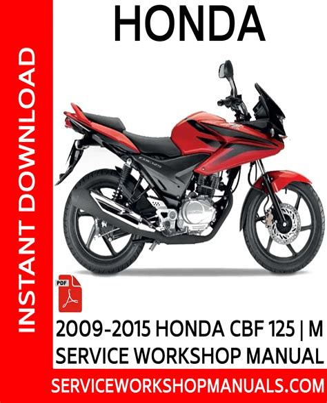 Honda Cbf 125 Repair Manual