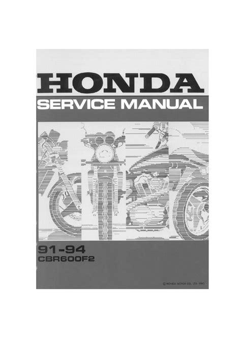 Honda Cbr 600 F2 Manual